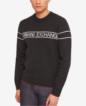 Armani Exchange Men Striped Logo Sweater