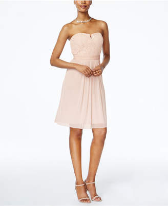 Adrianna Papell Strapless Lace A-Line Dress $159 thestylecure.com