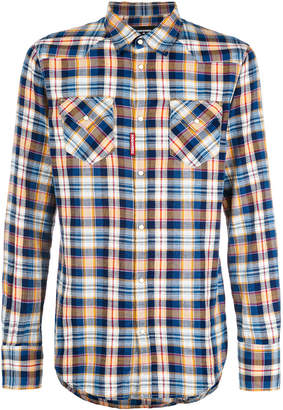 DSQUARED2 plaid fitted shirt