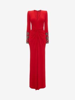 Alexander McQueen Embroidered Evening Dress