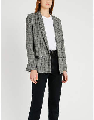 Paige Prince of Wales-checked tencel and cotton-blend blazer