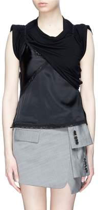 Alexander Wang Satin camisole panel T-shirt