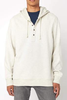 Jachs Ny NY Striped Cotton Hooded Henley