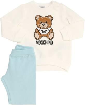 Moschino Printed Cotton Sweatshirt & Sweatpants