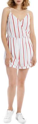 Miss Shop Ladder Trim Jumpsuit - Tri Colour Stripe