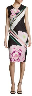 Printed Sleeveless Sheath Dress $88 thestylecure.com