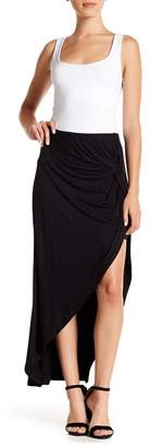 Bobeau Front Twist Maxi Skirt (Petite)