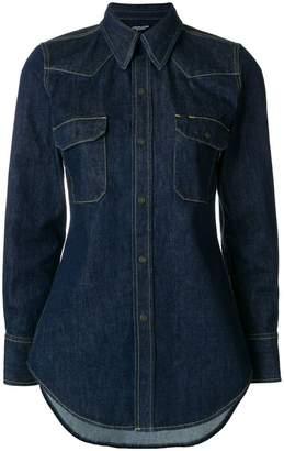 Calvin Klein fitted denim shirt