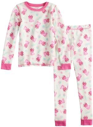 Cuddl Duds Toddler Girl Peppa Pig Thermal Top & Bottoms Set