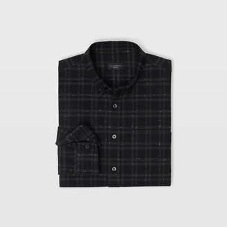 Club Monaco Slim Donegal Plaid Shirt