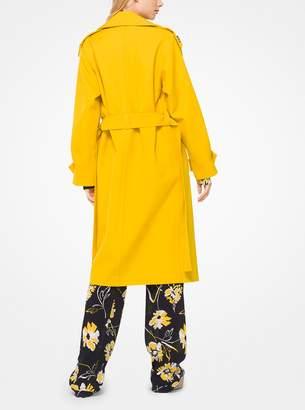 Michael Kors Bonded Wool-Gabardine Trench Coat