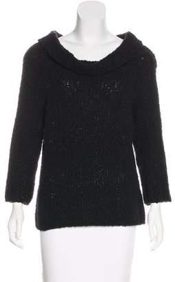 Max Mara Short Sleeve Turtleneck Sweater