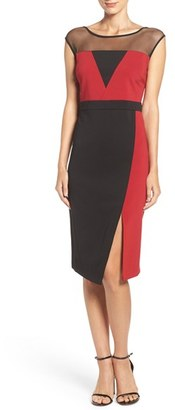Women's Eci Illusion Colorblock Midi Dress $88 thestylecure.com