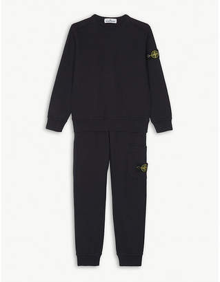 Stone Island Compass patch cotton tracksuit set 4-14 years