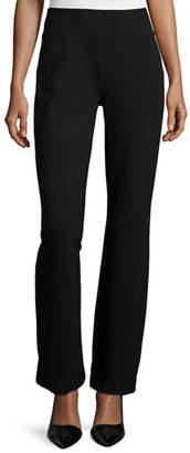 Joan Vass Ponte Boot-Leg Pants, Plus Size