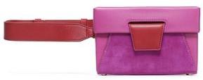 Yuzefi Lola Color-block Textured-leather Belt Bag