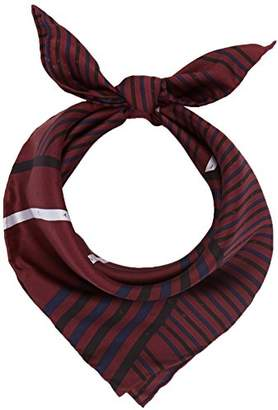 Calvin Klein Women's Silk Logo Foulard Giftpack Scarf, Red (Bordeaux,Black and Eclipse 910)