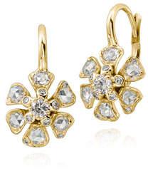 Aster Maria Canale Diamond Flower Drop Earrings in 18K Gold