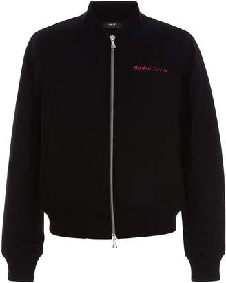 Amiri Beverly Hills Wool Bomber Jacket
