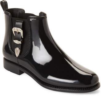 Henry Ferrera Black Marsala Buckle Short Rain Boots