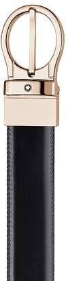 Montblanc Reversible Brown/Black Leather Belt $270 thestylecure.com