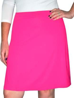 Kosher Casual Women's Modest Knee-Length Swim & Sport Skirt with Built-in Shorts - Skort Style