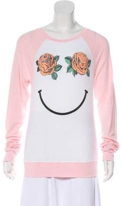 Wildfox Couture Printed Long Sleeve Sweatshirt
