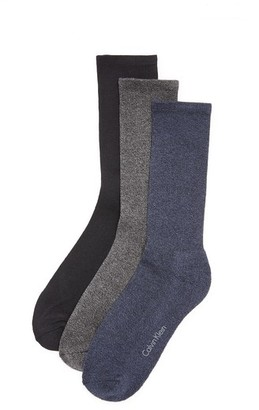 Calvin Klein Underwear 3 Pack Cushion Sole Crew Socks $22 thestylecure.com