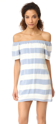 BB Dakota Kash Off The Shoulder Striped Dress $95 thestylecure.com