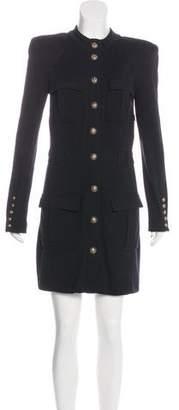 Balmain Wool Jersey Mini Dress w/ Tags