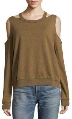 Saguaro Cold-Shoulder Long Sleeve Sweatshirt