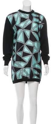 Fausto Puglisi Silk-Paneled Wool Dress
