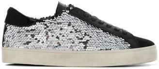 D.A.T.E lace-up sequin sneakers