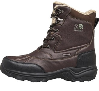 Karrimor Mens Snow Casual 3 Weathertite Snow Boots Brown