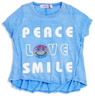 Play Six Girls' Peace Love Smile Graphic Tee - Little Kid