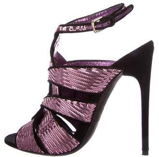 Tom Ford Sequined Caged Sandals