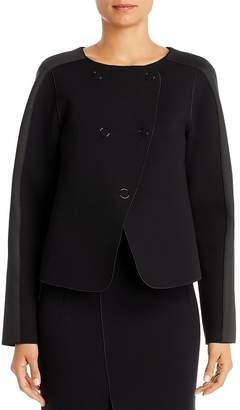 Giorgio Armani Contrast-Panel Boxy Jacket
