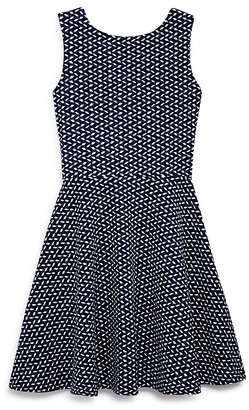 AQUA Girls' Geo Print Cutout Back Knit Dress , Sizes S-XL - 100% Exclusive $68 thestylecure.com
