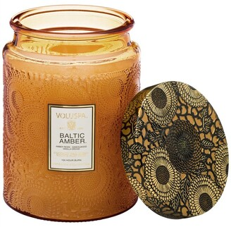 Voluspa Large Glass Jar Candle - Baltic Amber