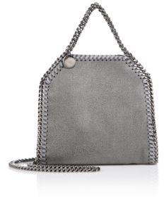 Stella McCartney Falabella Tiny Metallic Faux Suede Tote $745 thestylecure.com