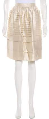 Chris Benz Satin Knee-Length Skirt w/ Tags Tan Satin Knee-Length Skirt w/ Tags