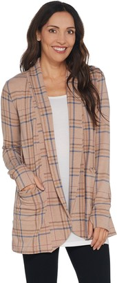 Cuddl Duds Comfortwear Shawl Collar Cardi Wrap with Pockets