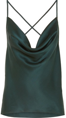 CAMI NYC The Jacqueline Draped Silk-charmeuse Camisole - Green