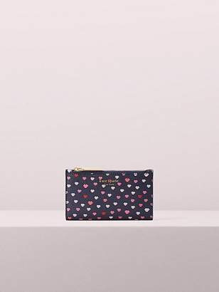 Kate Spade Sylvia Lips Small Slim Bifold Wallet, Navymulti