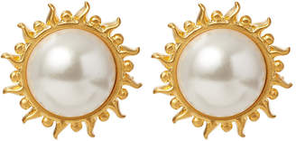 Catherine Canino Mother-of-Pearl Sunflower Stud Earrings