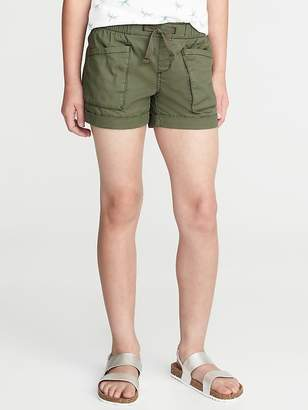 Old Navy Twill Utility Pull-On Shorts for Girls