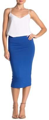 Velvet Torch Knit Bodycon Midi Skirt