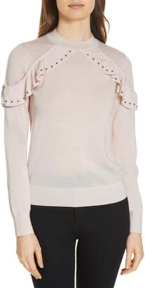 Kate Spade studded ruffle sweater