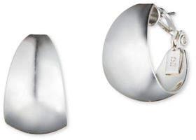 Anne Klein Silverplated Wide Hoop Earrings