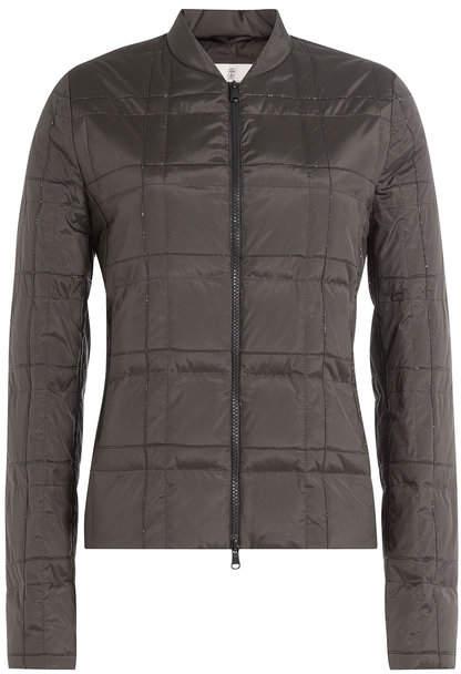 Brunello Cucinelli Silk Down Jacket with Embellishment